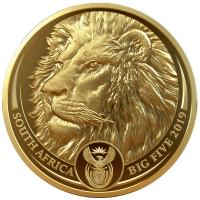 Südafrika - 50 Rand Big Five Löwe 2019 - 1 Oz Gold PP
