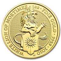 Großbritannien - 100 GBP Queens Beasts White Lion 2020 - 1 Oz Gold