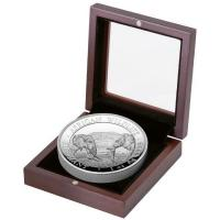 Somalia - African Wildlife Elefant 2020 - 1 Oz Silber HighRelief PP