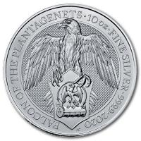 Großbritannien - 10 GBP Queens Beasts The Falcon 2020 - 10 Oz Silber