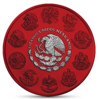 Mexiko - Libertad Siegesgöttin 2019 - 1 Oz Silber Space Red