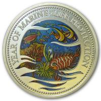 Palau - 5 USD Marine Life Protection 1992 - Silber PP Color