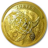 Niue - 50 NZD Turtle 2014 - 1/4 Oz Gold