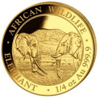 Somalia - 200 Shillings Elefant 2020 - 1/4 Oz Gold