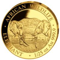 Somalia - 50 Shillings Elefant 2020 - 1/25 Oz Gold