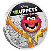 Niue - 2 NZD Disney Muppets: Animal - 1 Oz Silber