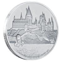 Niue - 2 NZD Harry Potter Hogwarts Castle - 1 Oz Silber
