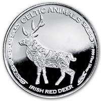 Tschad - 500 Francs Celtic Animals Hirsch 2019 - 1 Oz Silber