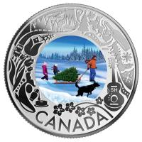 Kanada - 3 CAD Kanadaserie: Christbaum - Silber Proof