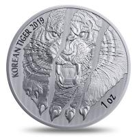 Südkorea - Korea Tiger Latent Proof 2019 - 1 Oz Silber
