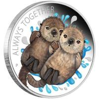 Tuvalu - 0,5 TVD Always Together Otter 2020 - 1/2 Oz Silber