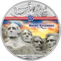 USA - 1 USD Silver Eagle Landmarks: Mount Rushmore - 1 Oz Silber Color