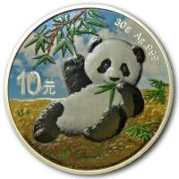 China - 10 Yuan Panda Tagdesign 2020 - 30g Silber Color