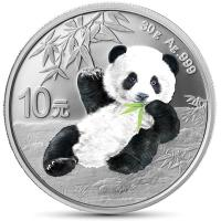 China - 10 Yuan Panda Glow in the Dark 2020 - 30g Silber Color
