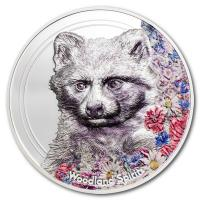 Mongolei - Woodland Spirits Raccoon Dog 2020 - 1 Oz Silber PP
