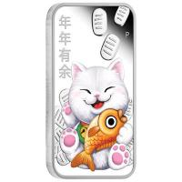 Tuvalu - 1 TVD Lucky Cat 2020 - 1 Oz Silber Proof Color