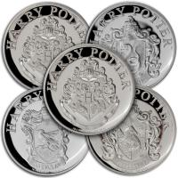 Gibraltar - 5 Pfund Harry Potter 5 Coin Set 2020 - Silber