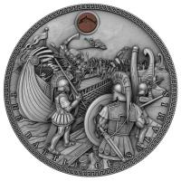 Niue - 5 NZD The Battle of Salamis 2019 - 2 Oz Silber HighRelief