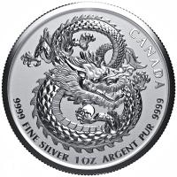 Kanada - 5 CAD Lucky Dragon 2019 - 1 Oz Silber High Relief