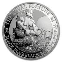 Tuvalu - 1 TVD Black Flag The Royal Fortune 2020 - 1 Oz Silber
