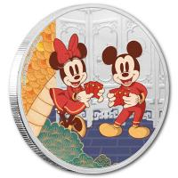 Niue - 2 NZD Disney Year of the Mouse Langlebigkeit 2020 - 1 Oz Silber
