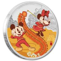 Niue - 2 NZD Disney Year of the Mouse Wohlstand 2020 - 1 Oz Silber