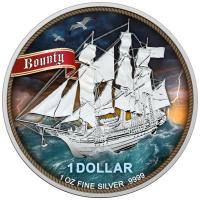 Cook Island - 1 CID Bounty High Seas 2020 - 1 Oz Silber Color