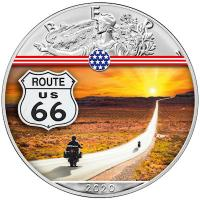USA - 1 USD Silver Eagle Landmarks: Route 66 - 1 Oz Silber Color