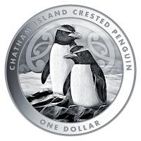 Neuseeland - 1 NZD Crested Pinguin 2020 - 1 Oz Silber