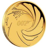 Tuvalu - 25 AUD James Bond 2020 - 1/4 Oz Gold
