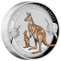 Australien - 1 AUD Känguru 2020 - 1 Oz Silber HighRelief Color