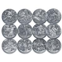 Cook Island - 12*2 TVD Gods of Olympus Set - 12*2 Oz Silber Antik