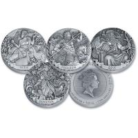 Cook Island - 4*2 TVD Gods of Olympus Set Part I - 4*2 Oz Silber Antik