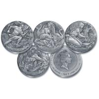 Cook Island - 4*2 TVD Gods of Olympus Set Part III - 4*2 Oz Silber Antik