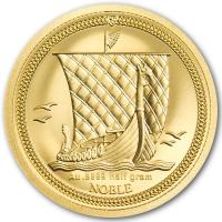 Isle of Man - One Noble Wikingerschiff 2020 - Gold Proof