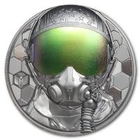 Cook Island - 20 CID Fighter Pilot - Real Heroes 2020 - 3 Oz Silber