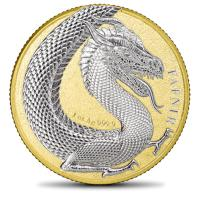 Germania Mint - 5 Mark Germania Beasts: Fafnir Gold Edition 2020 - 1 Oz Silber BOX