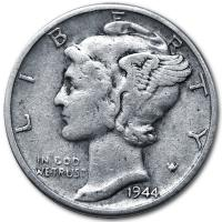 USA - 0,10 USD One Dime Mercury (1916-1945) - Silbermünze