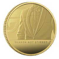 Großbritannien - 25 GBP James Bond 007: Shaken Not Stirred - 1/4 Oz Gold PP