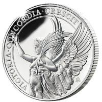 St. Helena - 1 Pfund The Queens Virtues: Victory 2021 - 1 Oz Silber PP