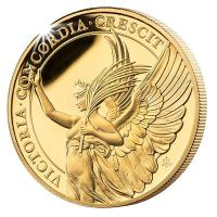 St. Helena - 5 Pfund The Queens Virtues: Victory 2021 - 1 Oz Gold PP