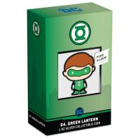 Niue - 2 NZD Chibi 09 The Green Lantern(TM) 2020 - 1 Oz Silber