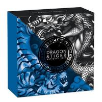 Tuvalu - 2 TVD Dragon and Tiger 2021 - 2 Oz Silber AntikFinish