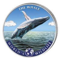 Kongo - 20 Francs Worlds Wildlife Wal/Whale 2020 - 1 Oz Silber Color