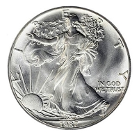 USA - 1 USD Silver Eagle 1987 - 1 Oz Silber