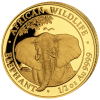 Somalia - 500 Shillings Elefant 2021 - 1/2 Oz Gold