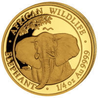 Somalia - 200 Shillings Elefant 2021 - 1/4 Oz Gold