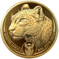 Südafrika - 51 Rand Big Five Leopard / Krügerrand 2020 - 2*1 Oz Gold Proof Set