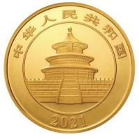 China - 800 Yuan Panda 2021 - 50g Gold PP