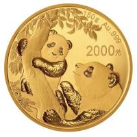 China - 2000 Yuan Panda 2021 - 150g Gold PP